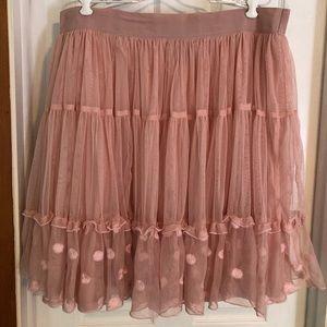 Pink Tulle Lane Bryant skirt